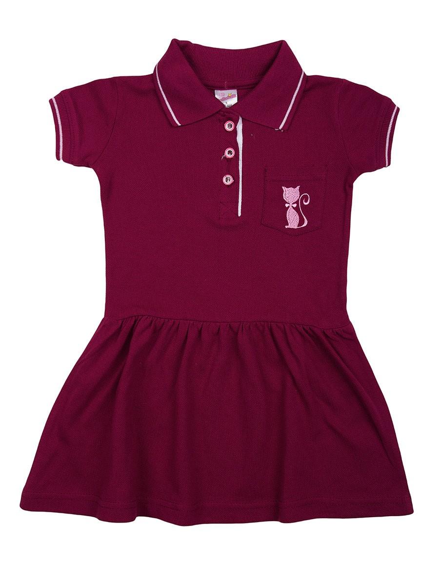 Поло-платье для девочек
