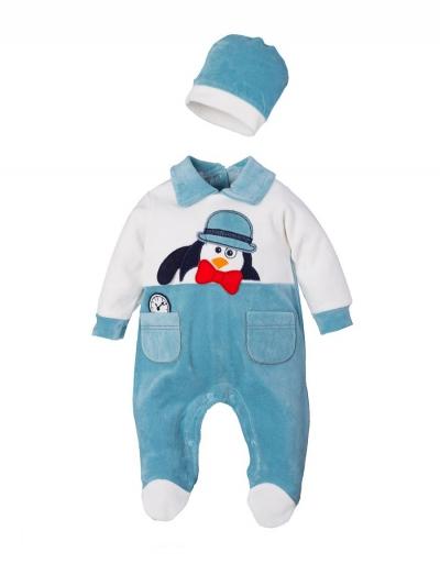 """Костюм для мальчиков """"Penguin turquoise"""""""