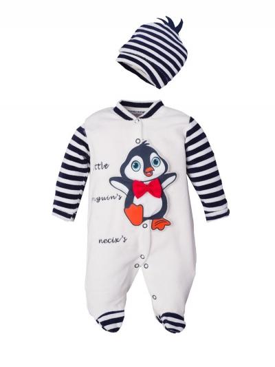 """Велюровый комбинезон для малышей """"Penguin"""""""